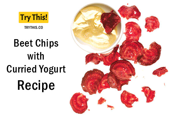 Beet Chips with Curried Yogurt
