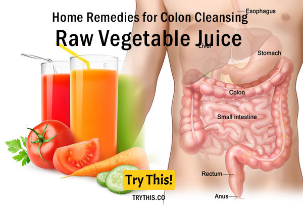 Raw Vegetable Juice as a Home Remedies for Colon Cleansing
