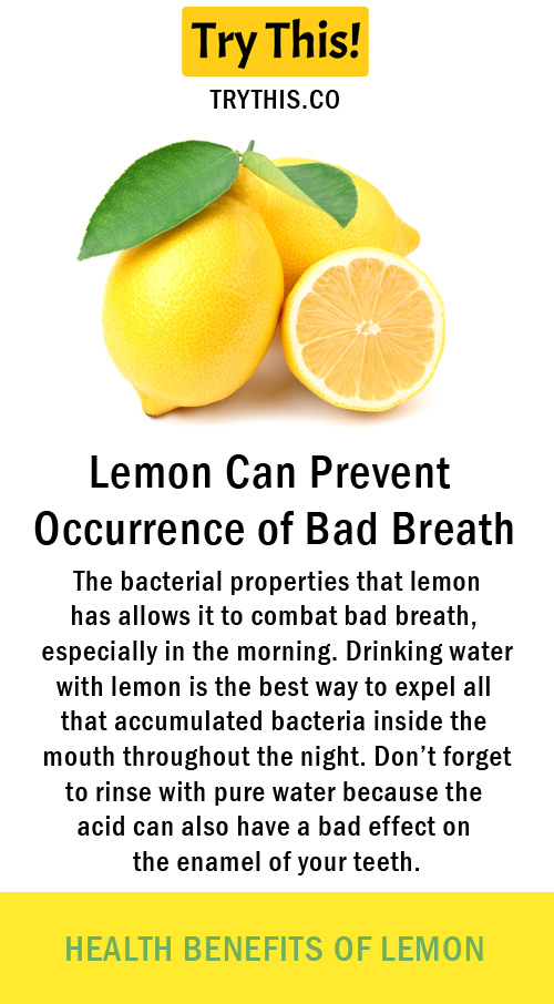 Lemon Can Prevent Occurrence of Bad Breath