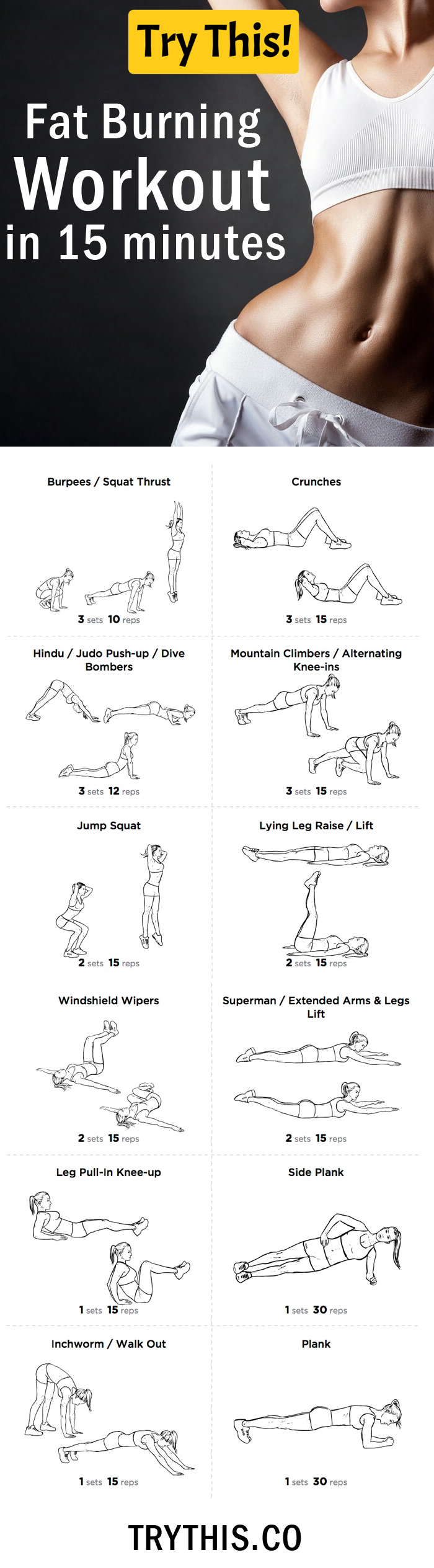 Workout Plans: Fat Burning Workout in 15 minutes