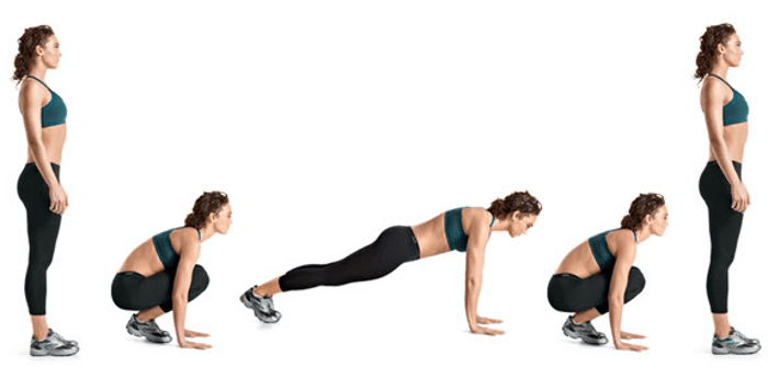 Burpees as a Fat Burning Exercise