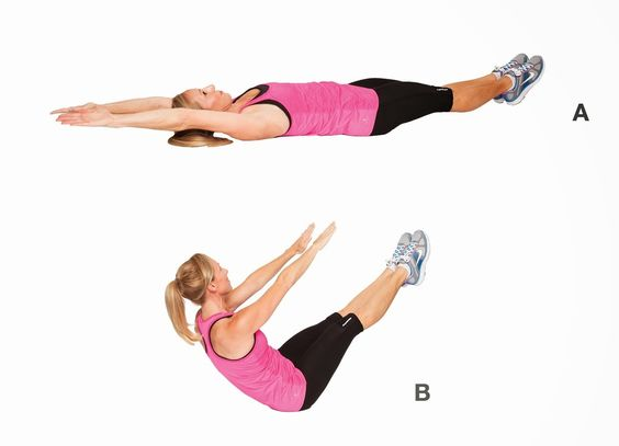 V-Crunches as a Fat Burning Exercise