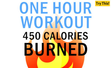 One Workout 450 Calories Burned