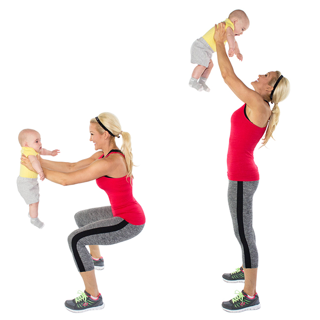 Baby Weight Squats