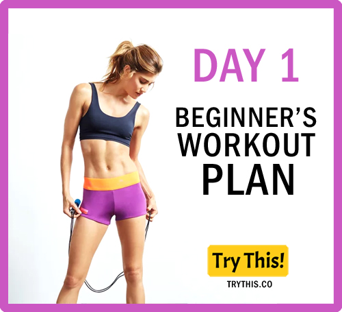 7 Days Beginner's Workout Plan - Day 1