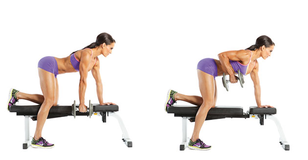 One-Arm Dumbbell Row - 7 Days Beginner's Workout Plan