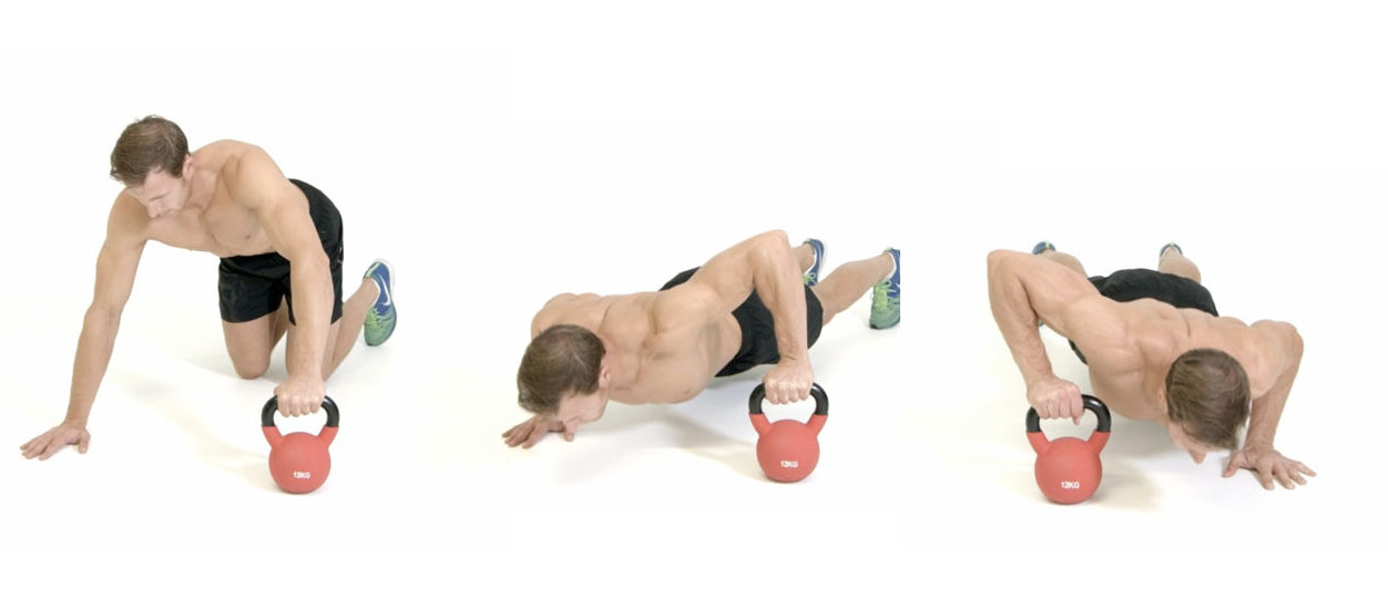 Plyo Kettlebell Pushups - 7 Days Beginner's Workout Plan