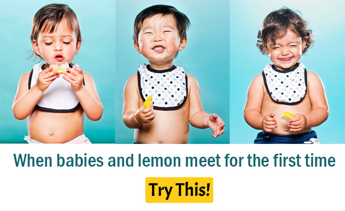When babies and lemon meet for the first time