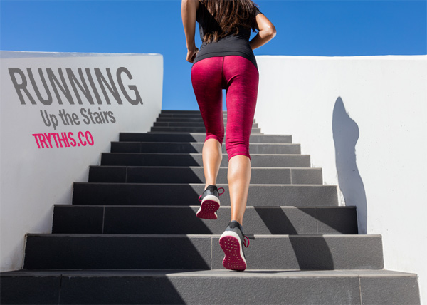 Top 10 Fat Burning Cardio Exercises - Running Up the Stairs