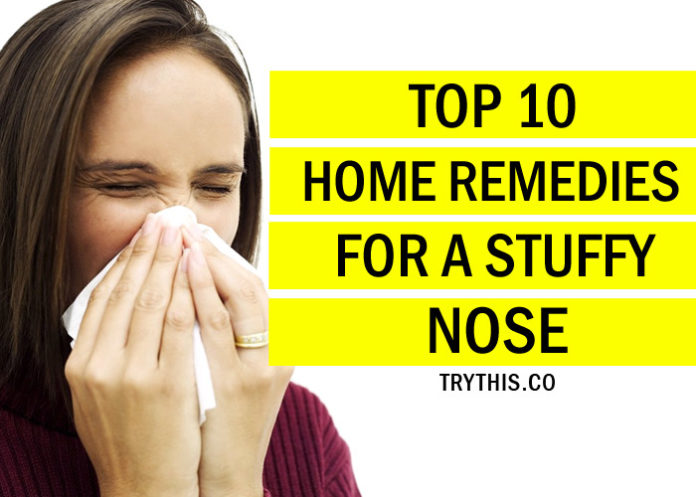 Top 10 Home Remedies for a Stuffy Nose