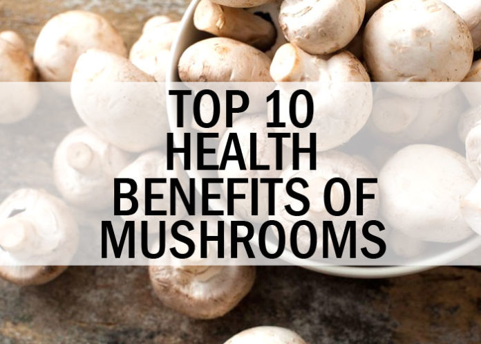 Top 10 Health Benefits of Mushrooms