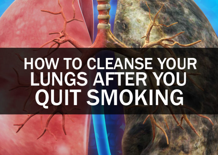 how to clean your lungs from smoking